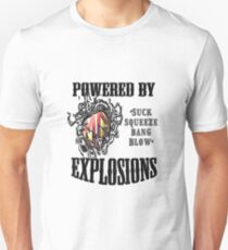 MG Powered by explosions Unisex T-Shirt