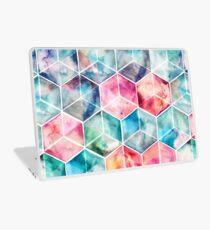 Translucent Watercolor Hexagon Cubes Laptop Skin