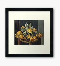 Felix Vallotton - Double Yellow Tulips On A Wicker Chair Framed Print
