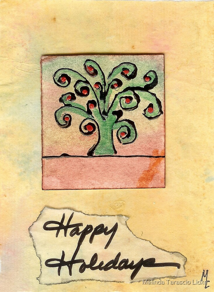 Happy Holidays Tree 31c by Melinda Tarascio Lidke