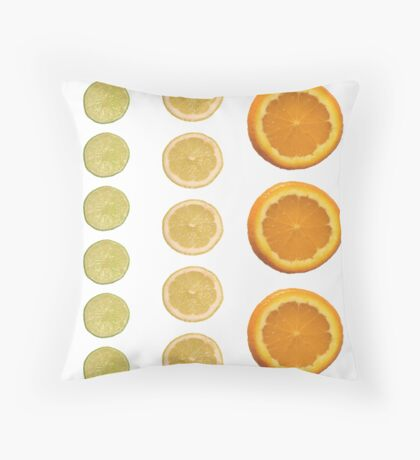 Citrus Bliss Throw Pillow