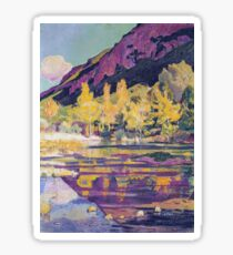 Ferdinand Hodler - At The Foot Of The Petit Saleve 1893 Sticker