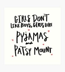Pyjamas & Patsy Mount Art Print