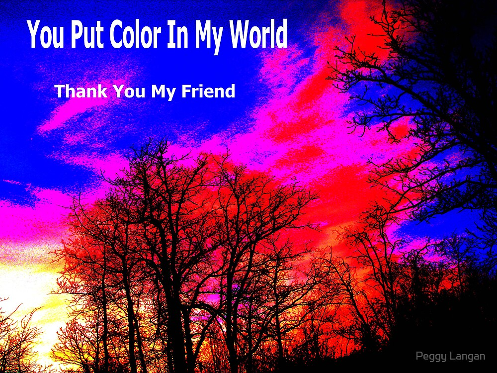 You Put Color In My World by Peggy Langan
