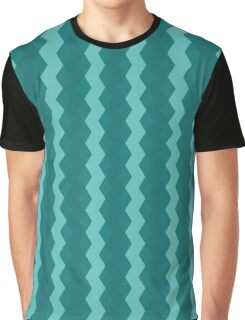 Blue Stripes Pattern Graphic T-Shirt