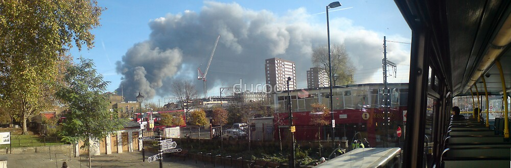 Smoke over East London by duroo