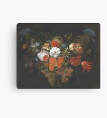 Abraham Mignon - Garland Of Fruit And Flowers  1660  Canvas Print
