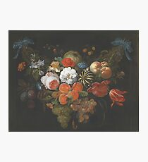 Abraham Mignon - Garland Of Fruit And Flowers  1660  Photographic Print