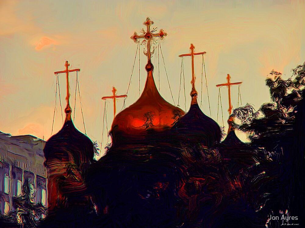 Onion Domes along Varvarka by Jon Ayres