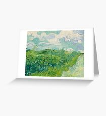 Green Wheat Fields, Auvers, 1890, Vincent van Gogh Greeting Card