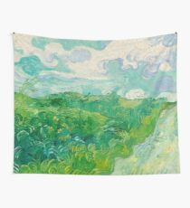 Green Wheat Fields, Auvers, 1890, Vincent van Gogh Wall Tapestry