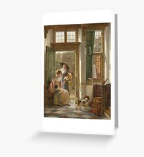 Abraham Van Strij - A Cherry Vendor At The Door Greeting Card