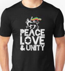 Peace, Love and Unity - Rasta Nation Unisex T-Shirt