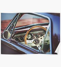 Interior shot of a 1960s Mustang Poster
