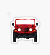 roter Jeep Sticker