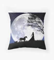 Walking on the moon Throw Pillow
