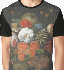 Abraham Mignon - Garland Of Fruit And Flowers  1660  Graphic T-Shirt