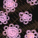 Pink doilies by ShellySays