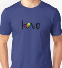 Autism Tshirt awareness Support Love puzzle ASD T-Shirt