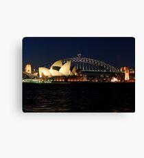 Opera House and Sydney Harbour Bridge Canvas Print