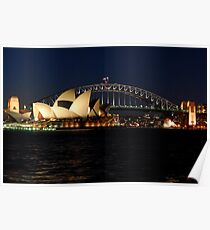 Opera House and Sydney Harbour Bridge Poster
