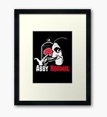 Ab(normal) brain Framed Print