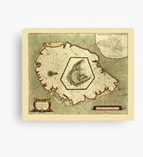 Map Of Mauritius 1705 Canvas Print