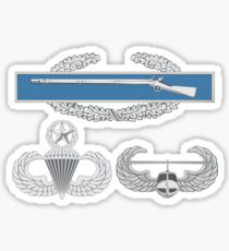 Combat Infantry Badge (CIB) Airborne Master Air Assault Sticker