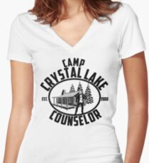 4539085b519 Camp Crystal lake Counselor Women s Fitted V-Neck T-Shirt