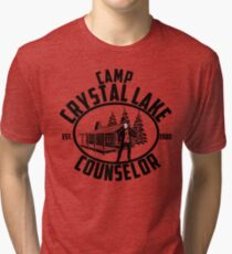 Camp Crystal lake Counselor Tri-blend T-Shirt