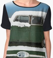 Hudson Super Jet in the Snow Chiffon Top