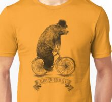 Bears on Bicycles (lime option) Unisex T-Shirt
