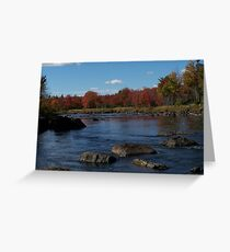 Autumn on the Union River Greeting Card