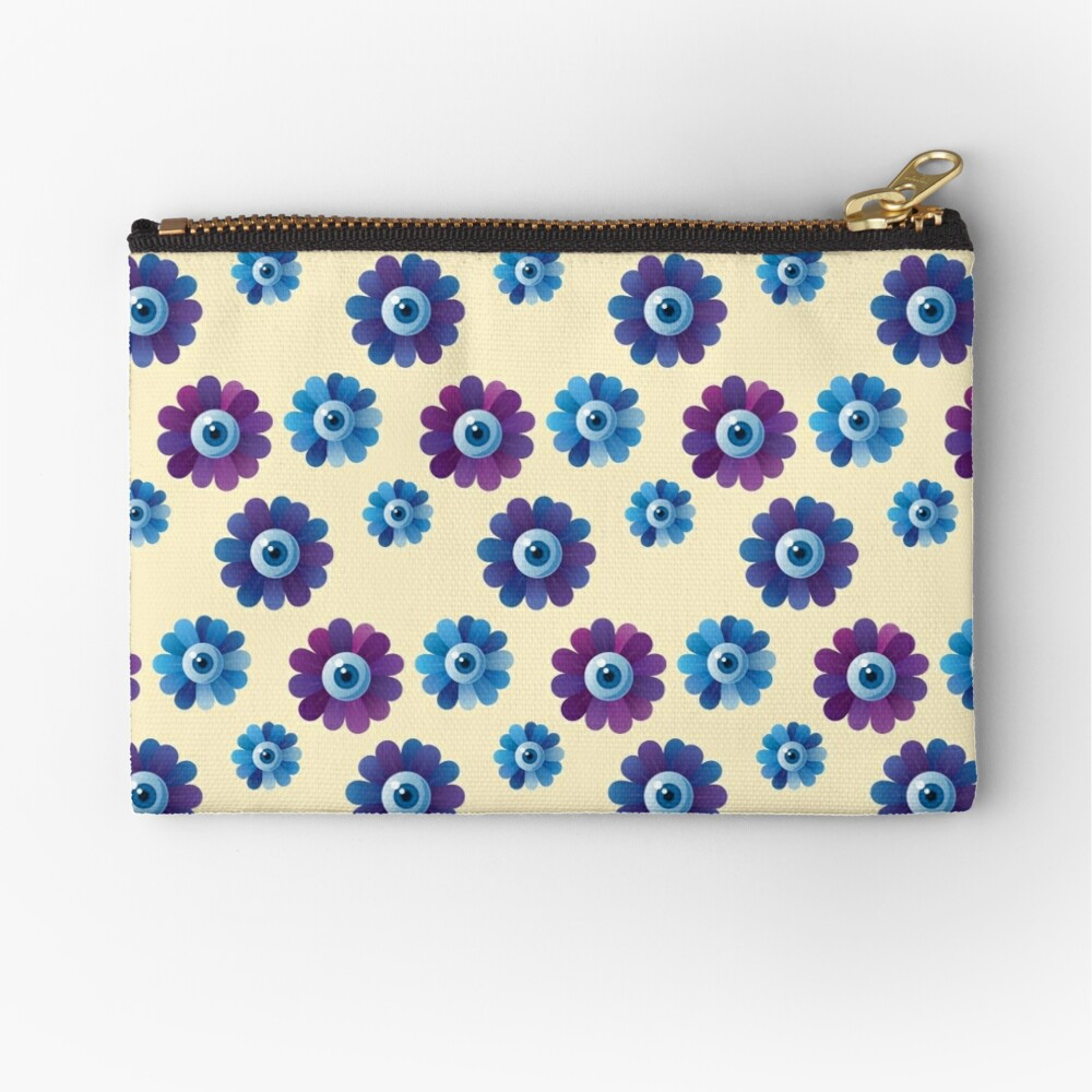 Eye Flowers Pattern Zipper Pouch