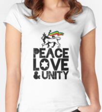Peace, Love and Unity - Rasta Nation Women's Fitted Scoop T-Shirt