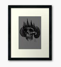 Fallen king  Framed Print