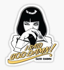 Pulp Fiction - Mia Wallace God Damn ! Light Coke Variant Sticker