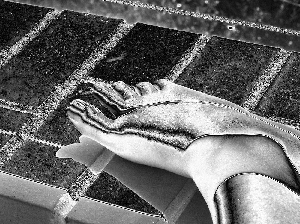 foot by bubblewrap
