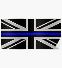 British Flag: Thin Blue Line Poster