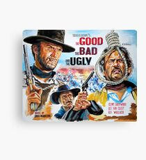 Clint Eastwood, Lee Van Cleef, The Good,The Bad & The Ugly movie poster Canvas Print