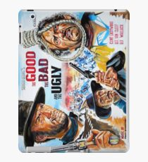 Clint Eastwood, Lee Van Cleef, The Good,The Bad & The Ugly movie poster iPad Case/Skin