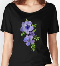 Purple Blossoms.  Women's Relaxed Fit T-Shirt