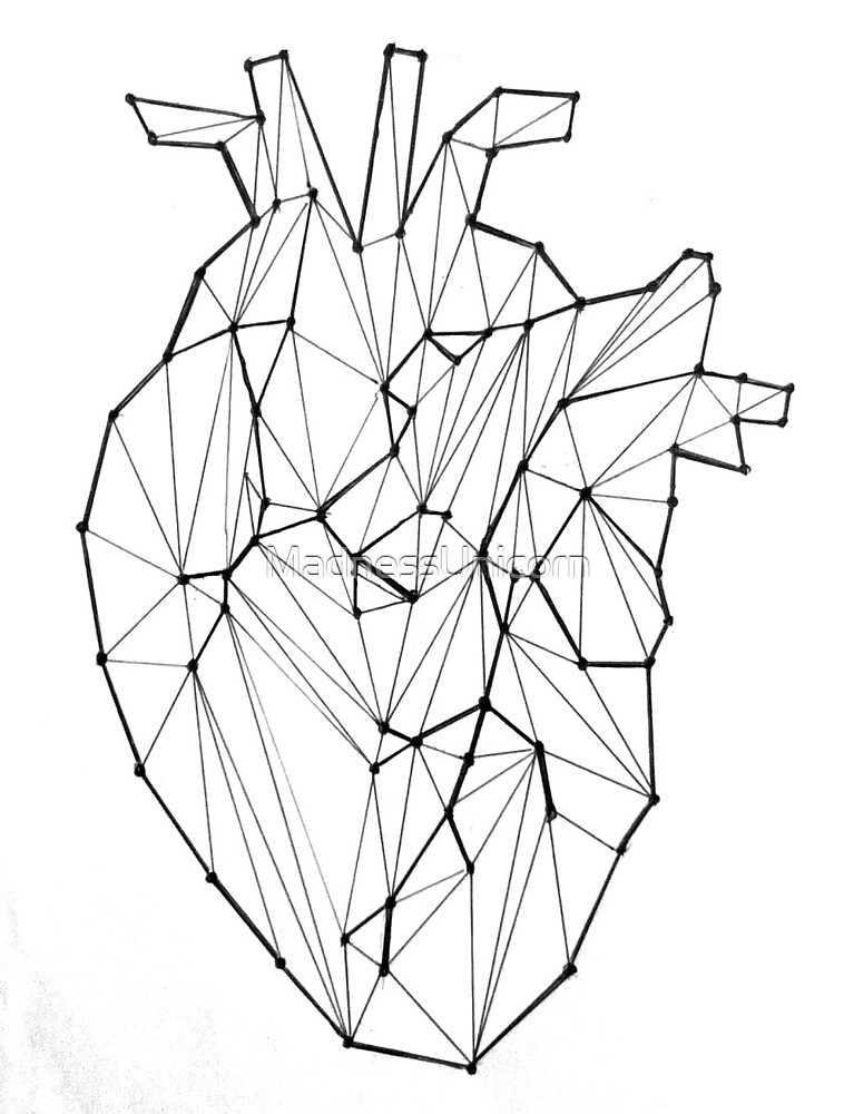 Quot Geometric Anatomical Heart Quot By Madnessunicorn Redbubble