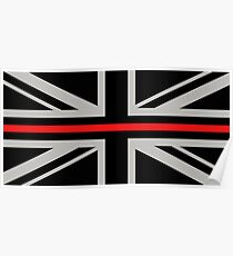 British Flag: Thin Red Line Poster