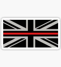 British Flag: Thin Red Line Sticker