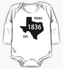 Texas Established 1836 Black One Piece - Long Sleeve