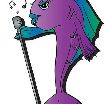 Singing Fish - Purple by CharlieLondon