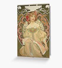 Alphonse Mucha - Champagne 1897 Greeting Card