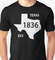Texas Established 1836 Unisex T-Shirt