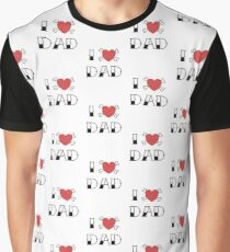 I (Love) Heart Dad Tattoo Graphic T-Shirt